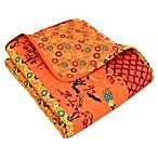Lush Décor Royal Empire Reversible Throw Blanket in Tangerine