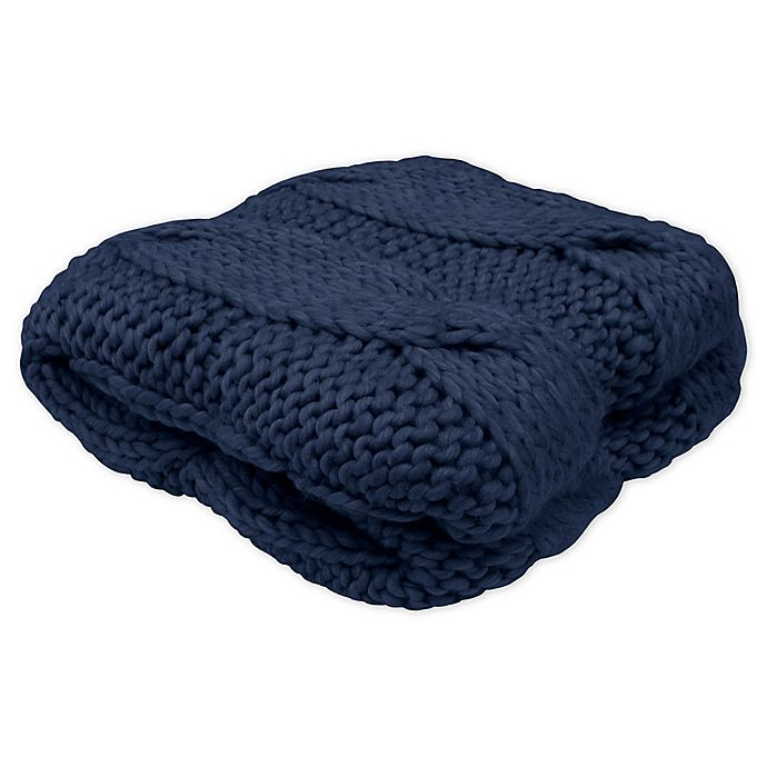 Alternate image 1 for French Connection® Ella Throw Blanket in Navy