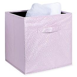 Simplify Metallic Storage Cube in Blush