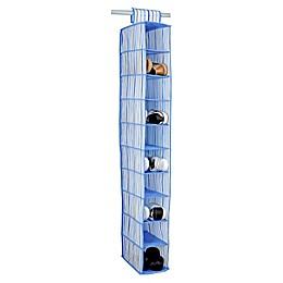 Laura Ashley® Kids 10-Shelf Hanging Shoe Organizer in Blue