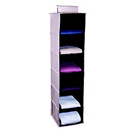 Simplify 6-Shelf Hanging Closet Organizer in Blush