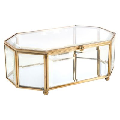Home Details Large Octagon Keepsake Box In Gold by Bed Bath And Beyond
