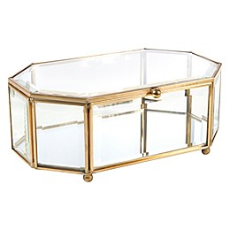 Home Details Large Octagon Keepsake Box in Gold