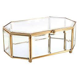 Home Details Large Octagon Keepsake Box in Gold
