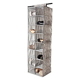 Laura Ashley® Hanging 16-Pocket Shoe Organizer in Silver
