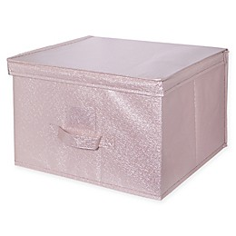 Simplify Metallic Storage Box in Blush