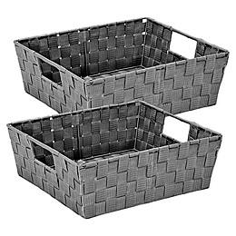 Simplify 2-Pack Storage Shelf Tote