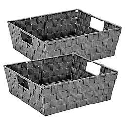 Simplify 2-Pack Storage Shelf Totes