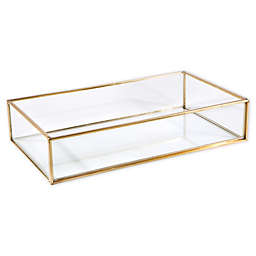 Home Details Glass Keepsake Tray in Gold