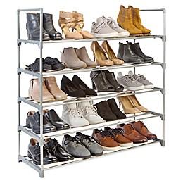 Simplify 5-Tier Stackable Shoe Rack in Grey