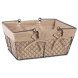 Design Imports 16-Inch x 12-Inch Farmhouse Chicken Wire Basket in Natural
