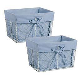 Design Imports Farmhouse Chicken Wire Medium Baskets (Set of 2)