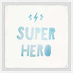 Marmont Hill Superhero Lightning Framed Wall Art