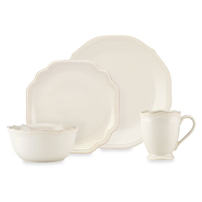 Alternate image 1 for Lenox® French Perle Bead White Dinnerware Collection