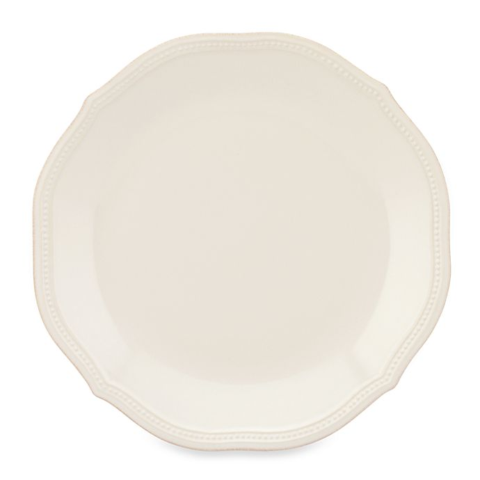 Alternate image 1 for Lenox® French Perle Bead Dinner Plate in White