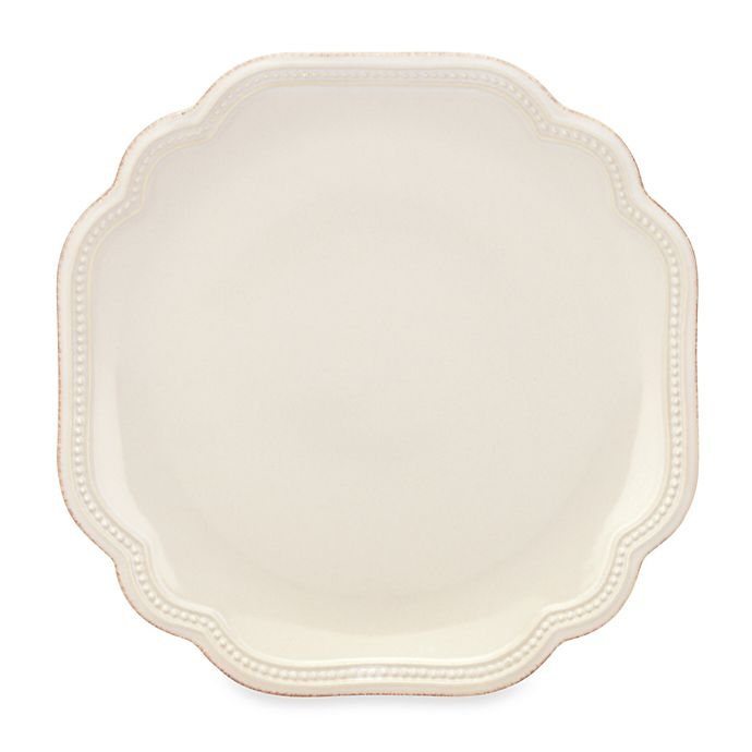 Alternate image 1 for Lenox® French Perle Bead Accent Plate in White