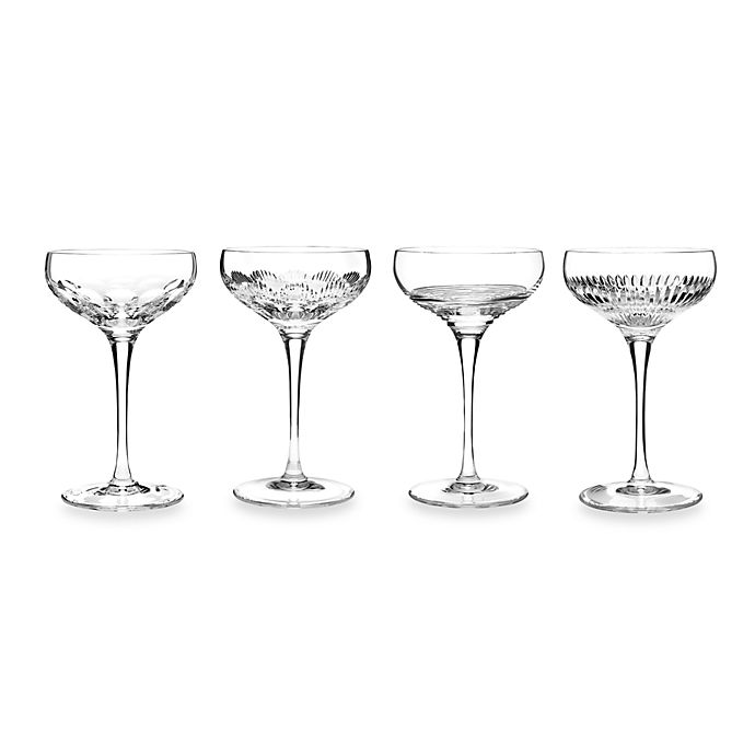 Alternate image 1 for Waterford® Mixology Clear Coupes (Set of 4)