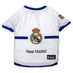 MLS Real Madrid Dog T-Shirt in White/Blue