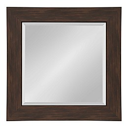 Kate and Laurel Boardwalk 26.5-Inch Square Wall Mirror