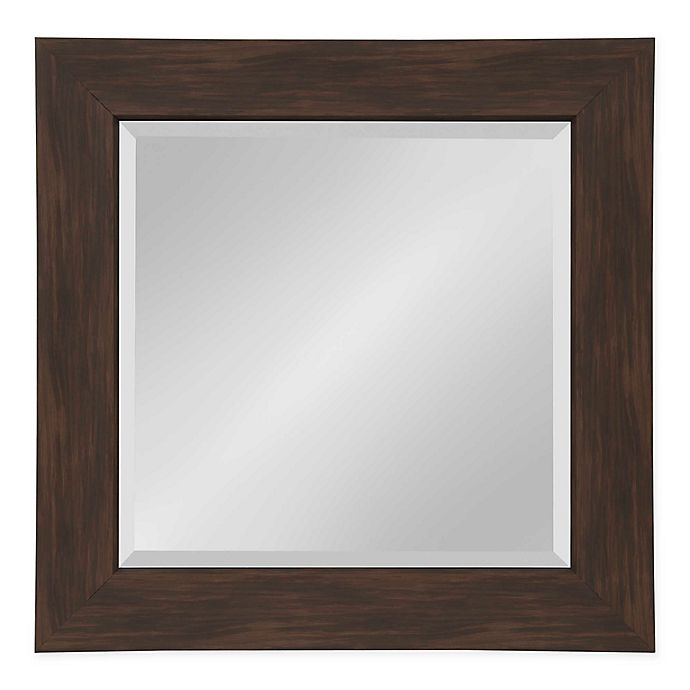 Alternate image 1 for Kate and Laurel Boardwalk 26.5-Inch Square Wall Mirror