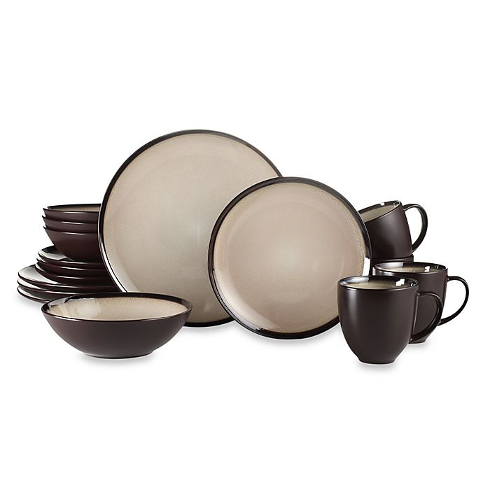 Alternate image 1 for Baum Gilded 16-Piece Dinnerware Set in Ivory