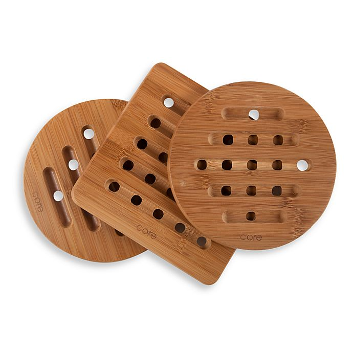Alternate image 1 for Bamboo Trivet (Set of 3)