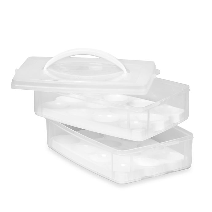 Alternate image 1 for Snapware® Two-Tray Egg-Tainer
