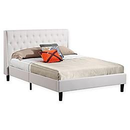 Cindy Full Platform Bed in Ivory
