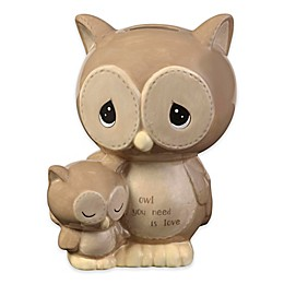 Precious Moments® Owl Piggy Bank in Brown