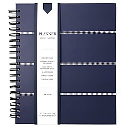 Kahootie Co® Striped Weekly/Monthly Planner in Navy