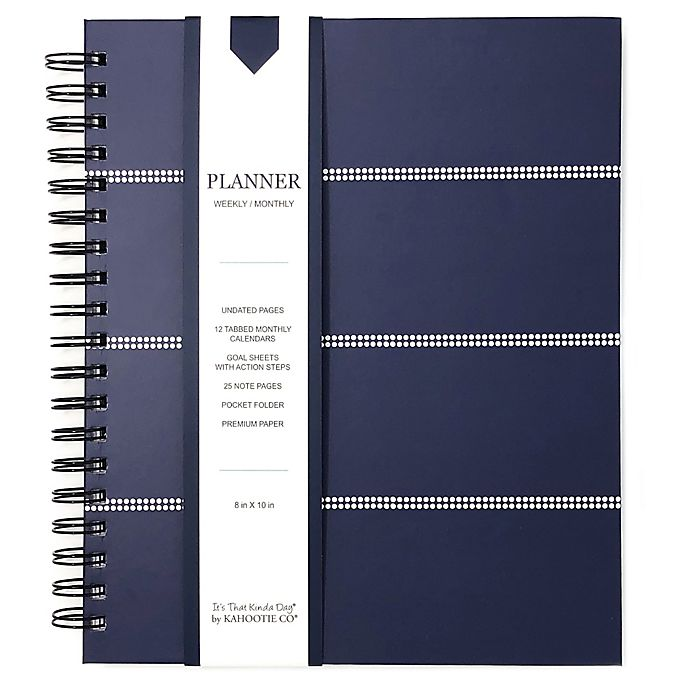 Alternate image 1 for Kahootie Co® Striped Weekly/Monthly Planner in Navy