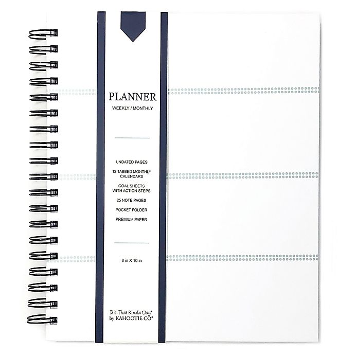 Alternate image 1 for Kahootie Co® Striped Weekly/Monthly Planner in Teal