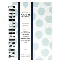 Kahootie Co® Polka Dots Daily/Monthly Planner in Teal