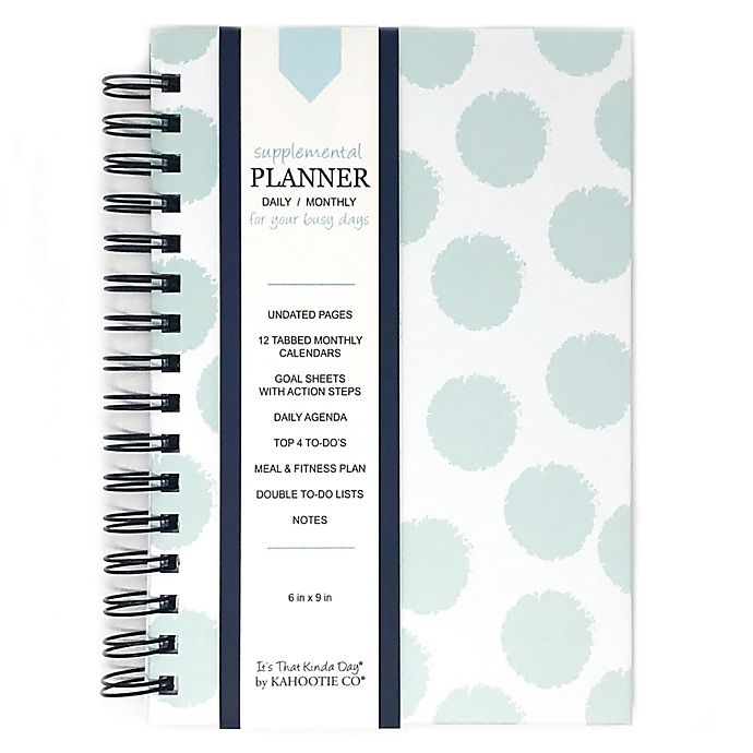 Alternate image 1 for Kahootie Co® Polka Dots Daily/Monthly Planner in Teal