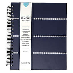 Kahootie Co® Mini Stripe Home/Work 12-Month Planner in Navy