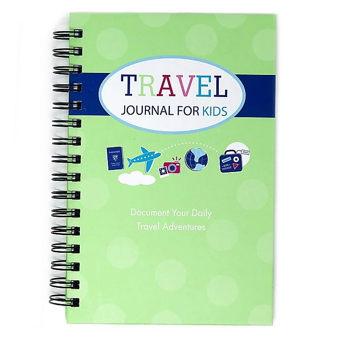 Alternate image 1 for Kahootie Co® Travel Journal For Kids in Green