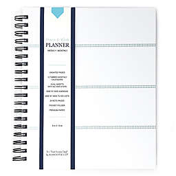 Kahootie Co® Mini Stripe Home/Work 12-Month Planner in Teal
