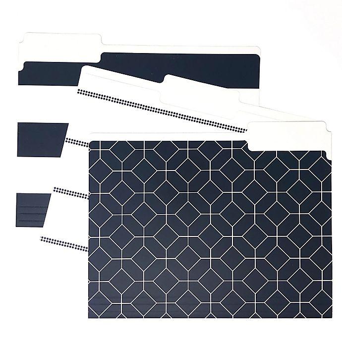 Alternate image 1 for Kahootie Co® Designer File Folders in Navy (Set of 3)