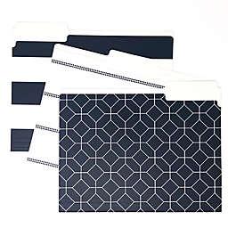 <div>Kahootie Co® Designer File Folders in Navy (Set of 3)</div>