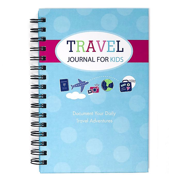 Alternate image 1 for Travel Journal for Kids in Teal/Pink