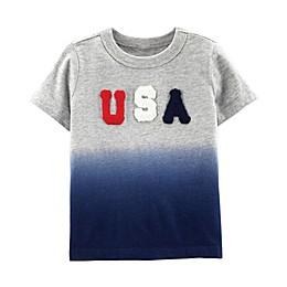 OshKosh B'gosh® USA Dip-Dye Shirt in Red/White/Blue