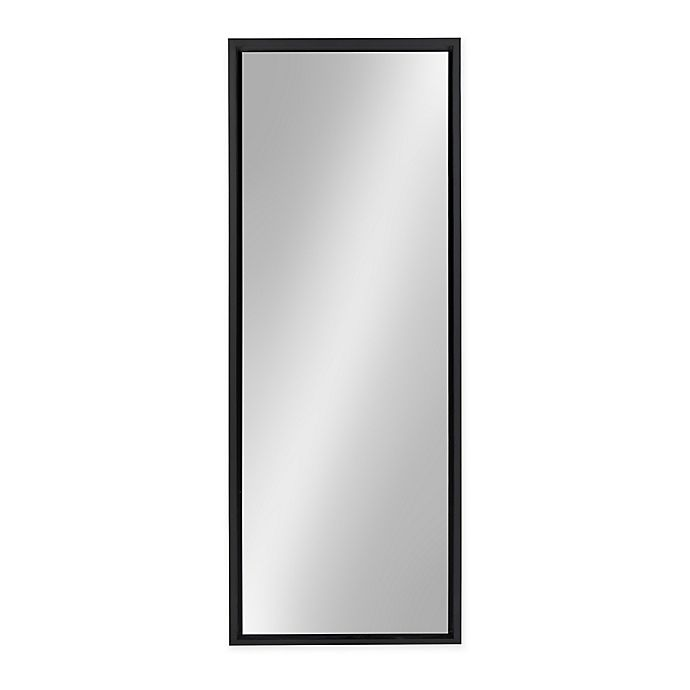 Alternate image 1 for Kate and Laurel Evans 16-Inch x 48-Inch Rectangular Wall Panel Mirror in Black