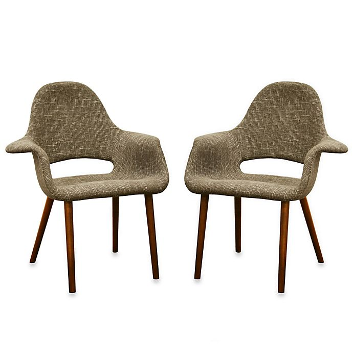 Forza Accent Chair In Taupe Twill Set Of 2 Bed Bath