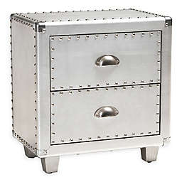 Baxton Studio Tolly Nightstand in Silver