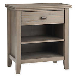 Simpli Home Artisan Nightstand in Distressed Grey