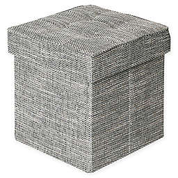 Seville Classics® Polyester Tweed Ottoman in Gray