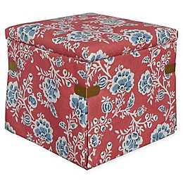 One Kings Lane Open House™ Squires Storage Ottoman in Vermillion
