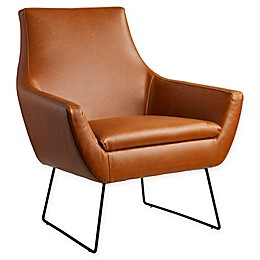 Adesso® Polyurethane Upholstered Kendrick Chair in Camel