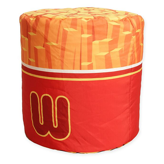 Wondrous Wow Works Polyester Upholstered French Fries Bean Bag Chair Machost Co Dining Chair Design Ideas Machostcouk
