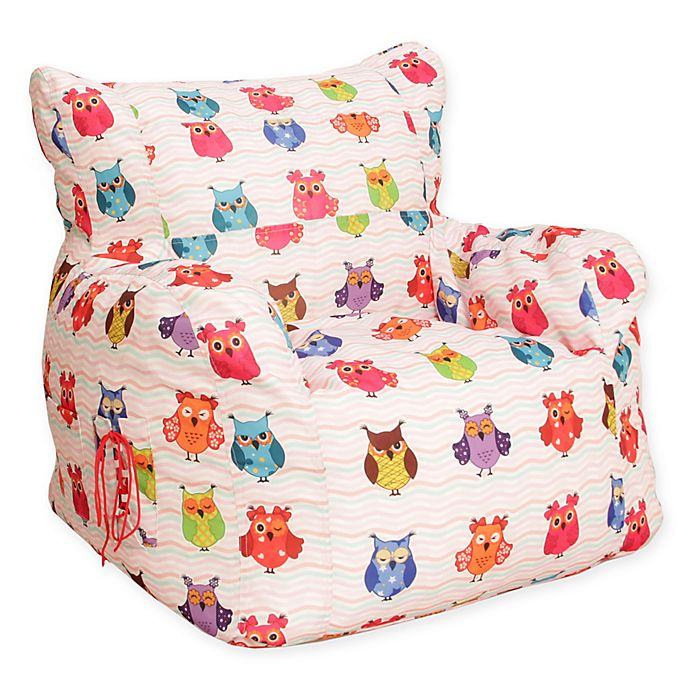 Magnificent Wow Works Polyester Upholstered Owls Bean Bag Chair Bed Machost Co Dining Chair Design Ideas Machostcouk